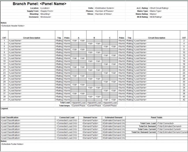 revit electrical panel schedule configuration information revit news