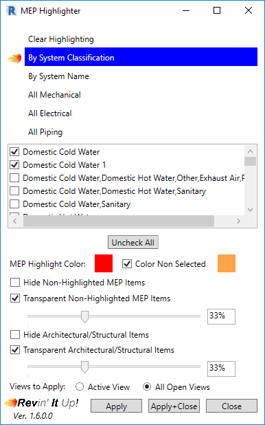 MEP Highlighter - Revit news