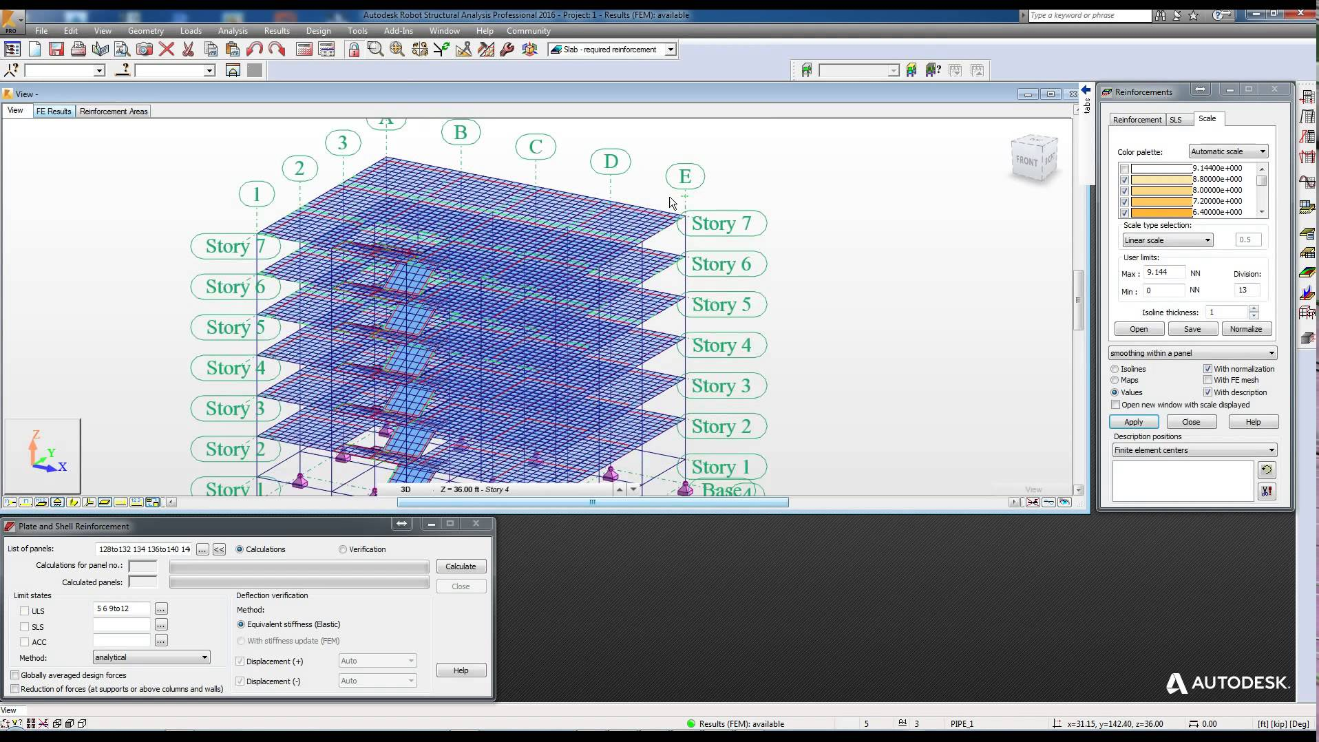 5  Analysis of Structure & Slab Reinforcement Drawing in
