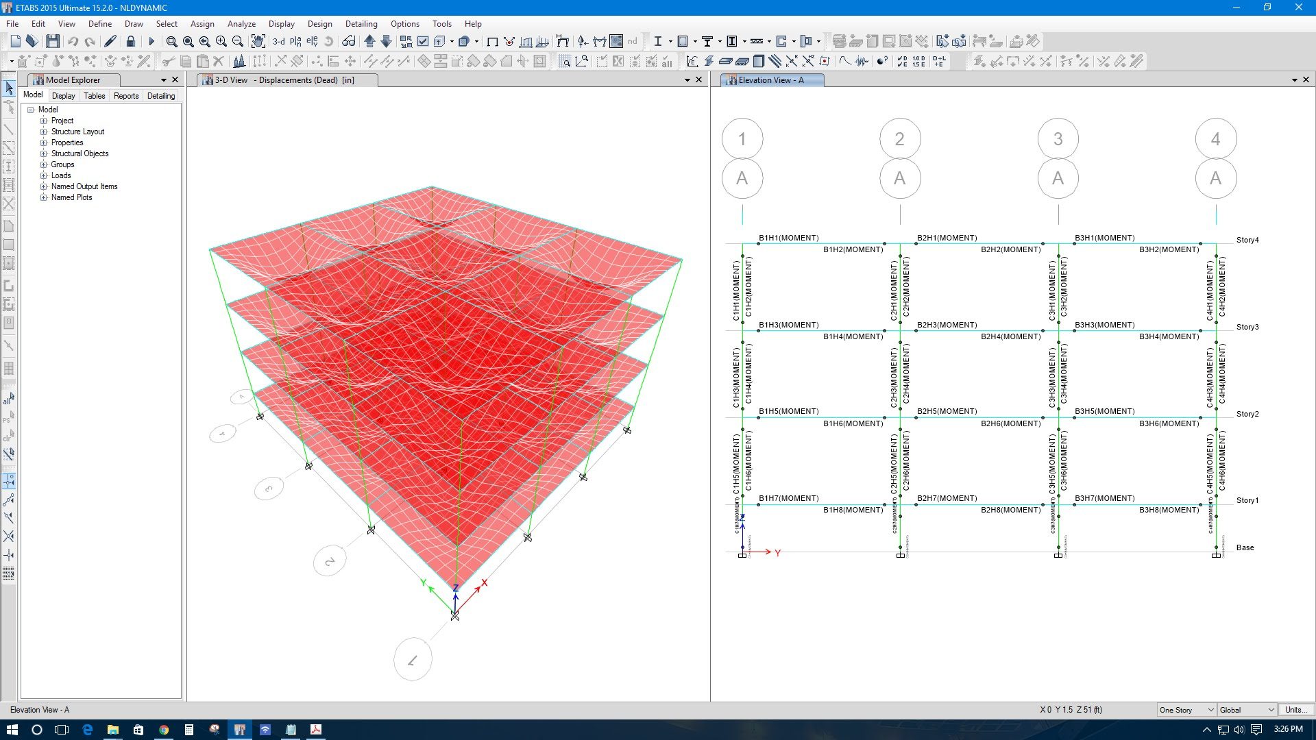 NONLINEAR DYNAMIC TIME HISTORY ANALYSIS IN ETABS 2015 V15 2 - Revit news