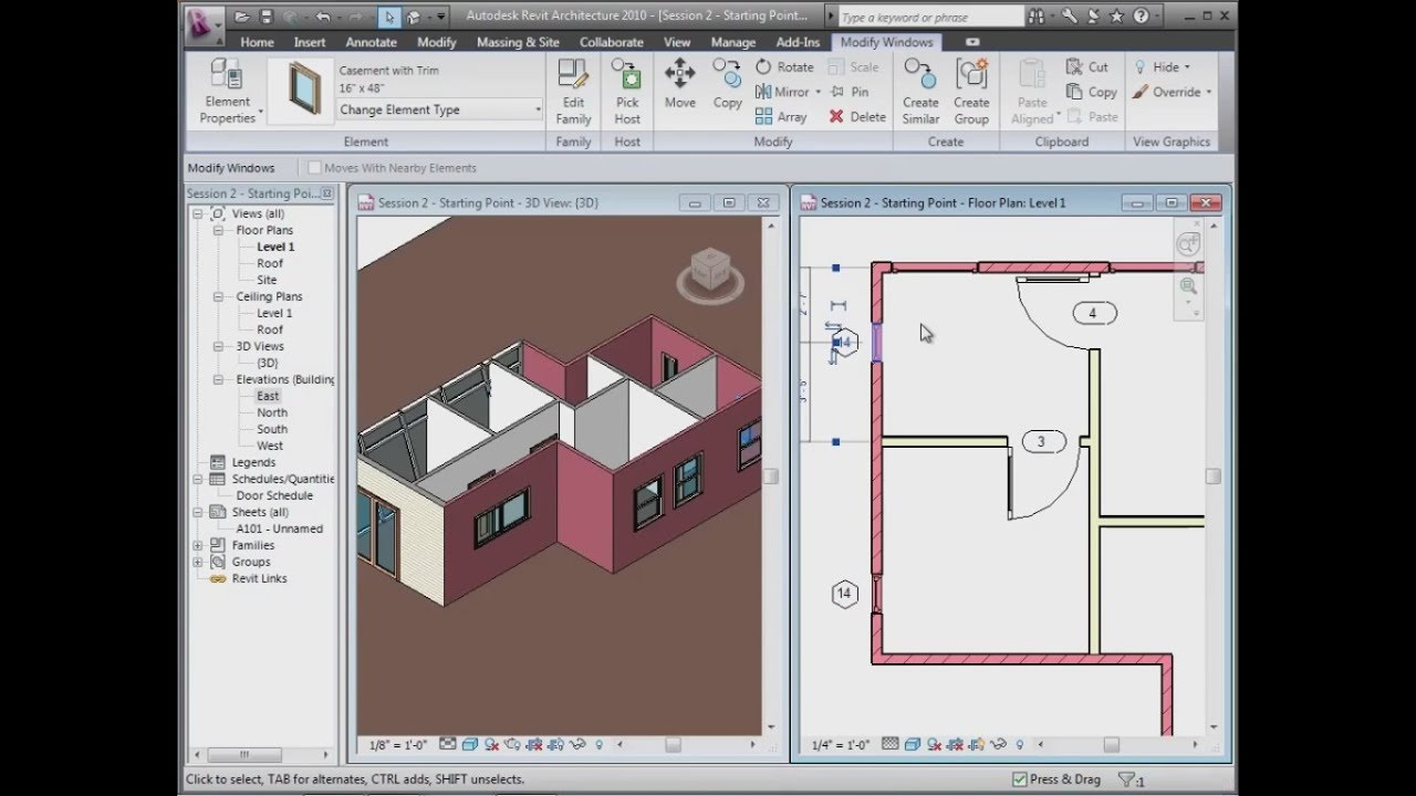 Revit House Design Tutorial 1 Revit Simple House Modeling Tutorial For Beginners Revit News