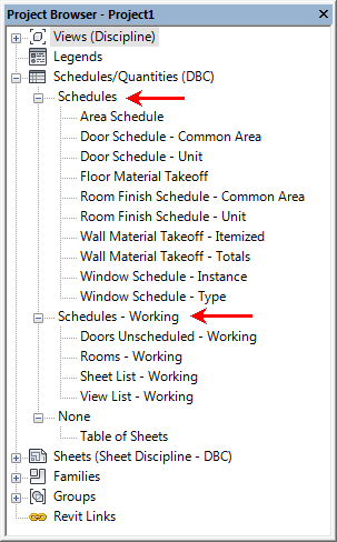 Schedule Organization Improvements in Revit 2018 1 - Revit news