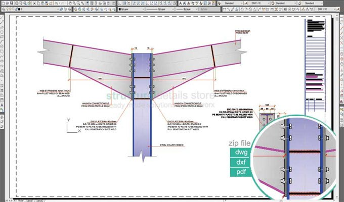 Download Sample Drawing Of Double Span Portal Frame Beam