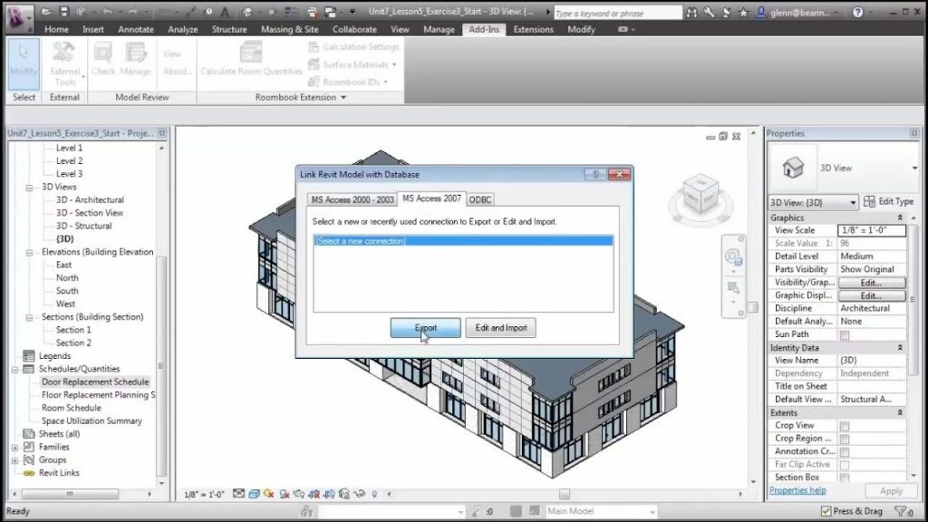 How to Export Import Revit Database to and From Access   Revit DB