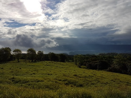 The view across to Tahiti Nui