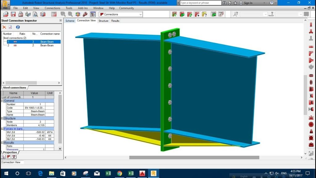 Connection Design in Robot Structural Analysis  - Revit news