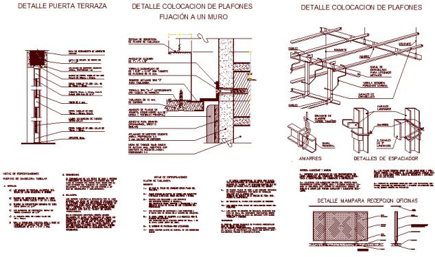 Download Construction Details Of Ceiling Available In Dwg