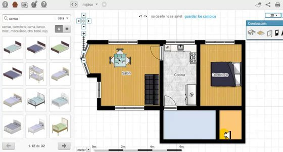 Floorplanner is a handy program to draw floor plans online in 2D or