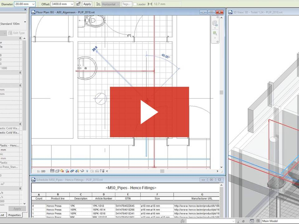 Free Henco Product Line Placer for Piping Systems - Revit news