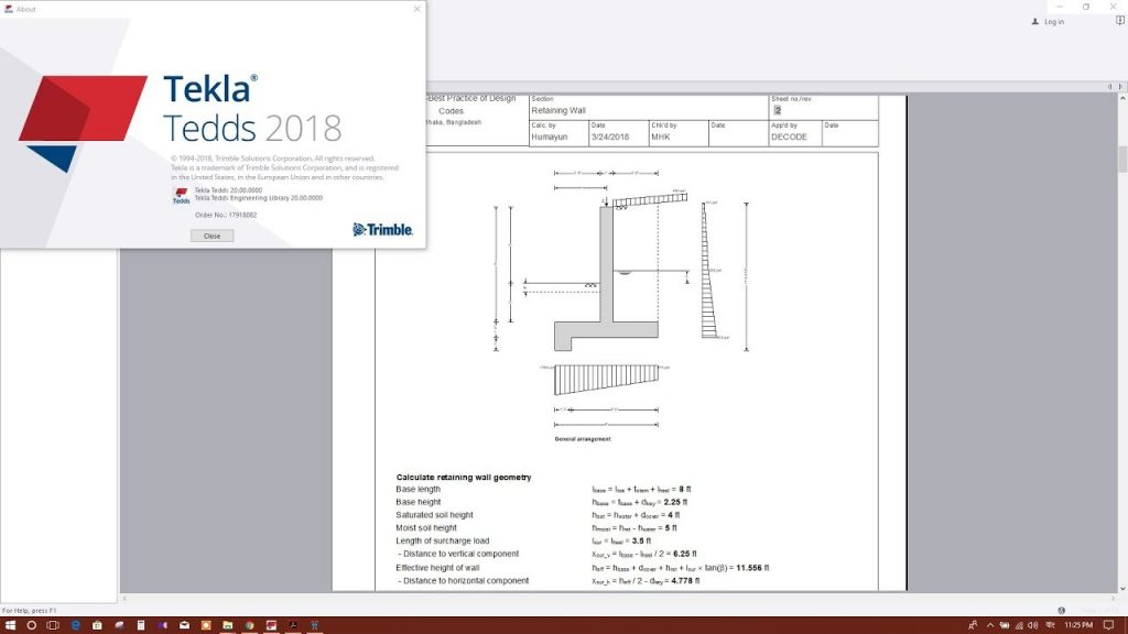 TEKLA TEDDS 2018: RETAINING WALL DESIGN EXAMPLE  - Revit news