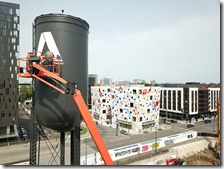 Painting the Autodesk Logo on the Water Tank