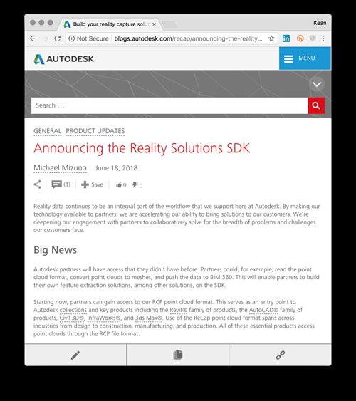 Annonce de Reality Solutions SDK