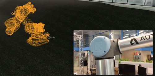 Un jumeau numérique (partiel) d'un robot industriel dans Dasher 360