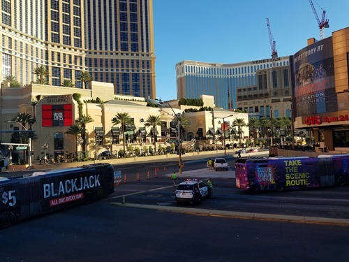 The strip was closed for business