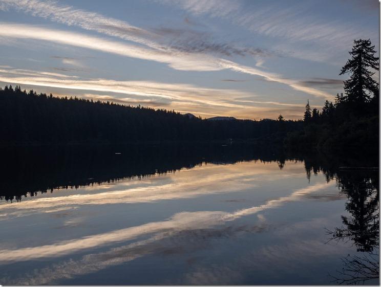Clear Lake Oregon Sunset