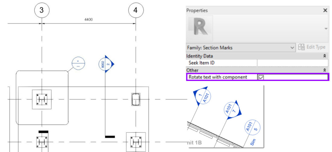 Revit 2021 - Rotating Section Heads