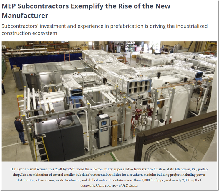MEP Subcontractors Exemplify the Rise of the New Manufacturer