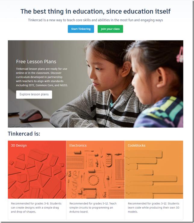 Tinkercad Lesson Plans for Teachers