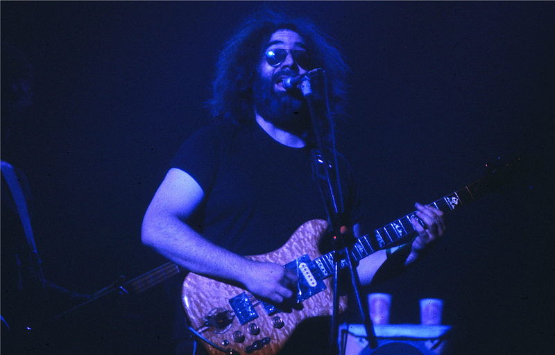 Wikimedia: Jerry Garcia, Grateful Dead, May 10 1980, Hart Civic Center, New Haven, CT.