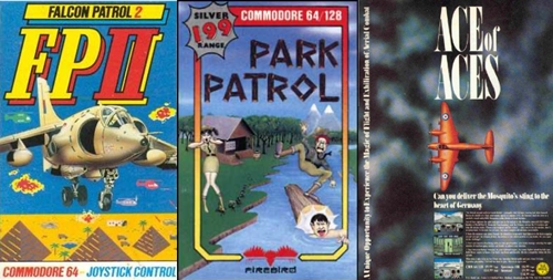 Falcon Patrol II, Park Patrol and Ace of Aces cover art