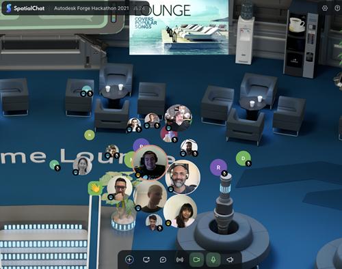 Kicking off the Hackathon via SpatialChat