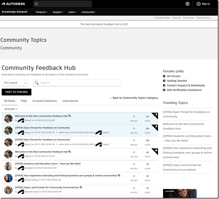 Community Feedback Hub